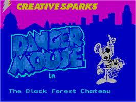Title screen of Danger Mouse in the Black Forest Chateau on the Sinclair ZX Spectrum.