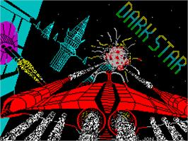 Title screen of Dark Star on the Sinclair ZX Spectrum.