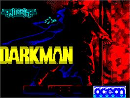 Title screen of Darkman on the Sinclair ZX Spectrum.
