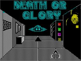 Title screen of Death or Glory on the Sinclair ZX Spectrum.