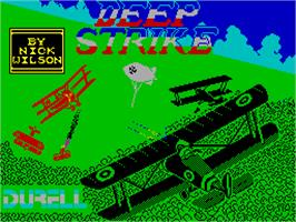 Title screen of Deep Strike on the Sinclair ZX Spectrum.