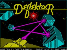 Title screen of Deflektor on the Sinclair ZX Spectrum.
