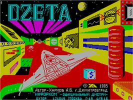 Title screen of Delta on the Sinclair ZX Spectrum.