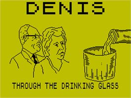 Title screen of Denis Through the Drinking Glass on the Sinclair ZX Spectrum.