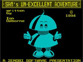 Title screen of Dizzy's Excellent Adventures on the Sinclair ZX Spectrum.