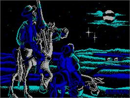 Title screen of Don Quijote on the Sinclair ZX Spectrum.