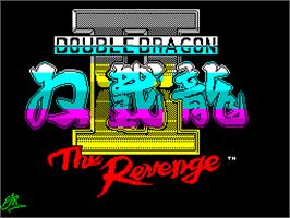 Title screen of Double Dragon II: The Revenge on the Sinclair ZX Spectrum.
