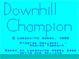 Title screen of Downhill Challenge on the Sinclair ZX Spectrum.