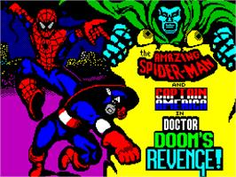 Title screen of Dr. Doom's Revenge on the Sinclair ZX Spectrum.
