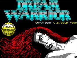 Title screen of Dream Warrior on the Sinclair ZX Spectrum.