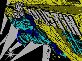 Title screen of Dustin on the Sinclair ZX Spectrum.