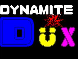 Title screen of Dynamite Düx on the Sinclair ZX Spectrum.