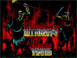 Title screen of Dynasty Wars on the Sinclair ZX Spectrum.