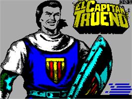 Title screen of El Capitán Trueno on the Sinclair ZX Spectrum.