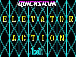 Title screen of Elevator Action on the Sinclair ZX Spectrum.