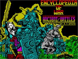 Title screen of Encyclopedia of War: Ancient Battles on the Sinclair ZX Spectrum.