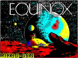 Title screen of Equinox on the Sinclair ZX Spectrum.