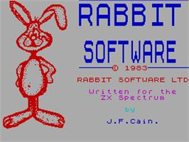 Title screen of Escape MCP on the Sinclair ZX Spectrum.