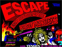 Title screen of Escape from the Planet of the Robot Monsters on the Sinclair ZX Spectrum.