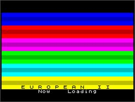 Title screen of European 2 on the Sinclair ZX Spectrum.
