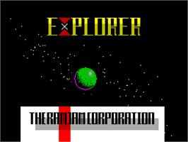 Title screen of Explorer on the Sinclair ZX Spectrum.