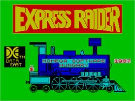 Title screen of Express Raider on the Sinclair ZX Spectrum.