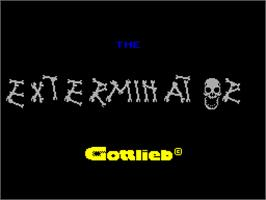 Title screen of Exterminator on the Sinclair ZX Spectrum.
