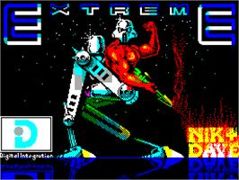 Title screen of Extreme on the Sinclair ZX Spectrum.