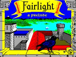 Title screen of Fairlight: A Prelude on the Sinclair ZX Spectrum.
