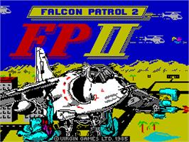 Title screen of Falcon Patrol II on the Sinclair ZX Spectrum.