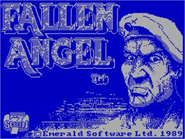 Title screen of Fallen Angel on the Sinclair ZX Spectrum.