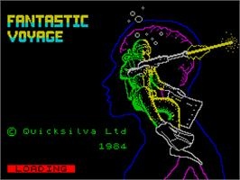 Title screen of Fantastic Four on the Sinclair ZX Spectrum.
