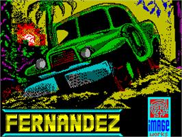 Title screen of Fernandez Must Die on the Sinclair ZX Spectrum.