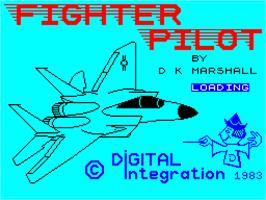 Title screen of Fighter Pilot on the Sinclair ZX Spectrum.