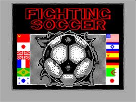 Title screen of Fighting Soccer on the Sinclair ZX Spectrum.