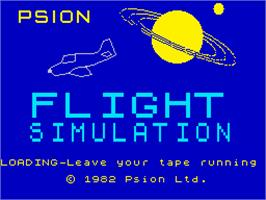 Title screen of Flight Simulation on the Sinclair ZX Spectrum.
