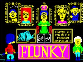 Title screen of Flunky on the Sinclair ZX Spectrum.