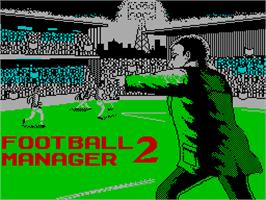 Title screen of Football Manager 2 on the Sinclair ZX Spectrum.