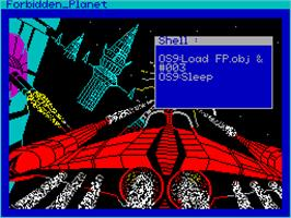 Title screen of Forbidden Planet on the Sinclair ZX Spectrum.