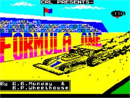 Title screen of Formula One on the Sinclair ZX Spectrum.