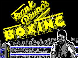 Title screen of Frank Bruno's Boxing on the Sinclair ZX Spectrum.