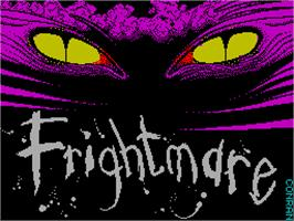 Title screen of Frightmare on the Sinclair ZX Spectrum.