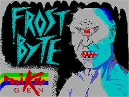 Title screen of Frost Byte on the Sinclair ZX Spectrum.