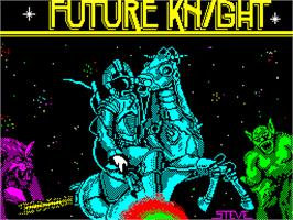 Title screen of Future Knight on the Sinclair ZX Spectrum.