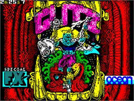 Title screen of G.U.T.Z. on the Sinclair ZX Spectrum.