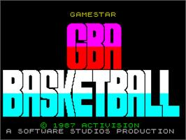Title screen of GBA Championship Basketball: Two-on-Two on the Sinclair ZX Spectrum.