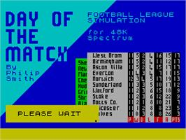Title screen of Game Set & Match on the Sinclair ZX Spectrum.