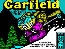 Title screen of Garfield: Winter's Tail on the Sinclair ZX Spectrum.