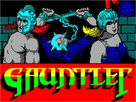Title screen of Gauntlet on the Sinclair ZX Spectrum.