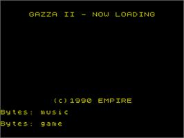 Title screen of Gazza II on the Sinclair ZX Spectrum.